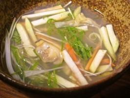 アサリの冷たいスープ